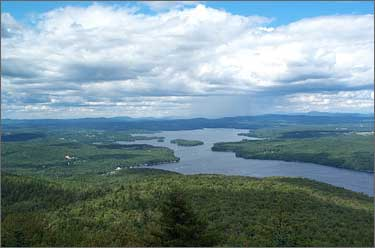 Photo of Lake Sunapee from Mt. Sunapee