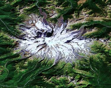 Mt. Rainier from Google Maps