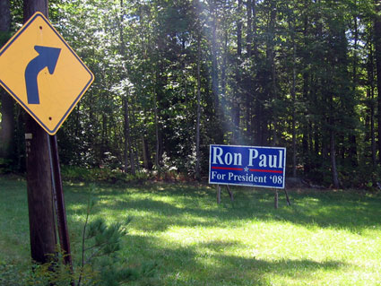 Ron Paul for President sign